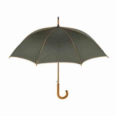 mörkgrönt och beige paraply