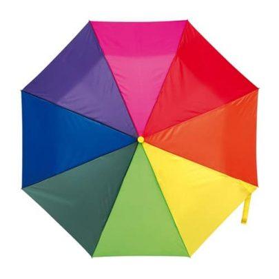 mångfärgat automatiskt paraply