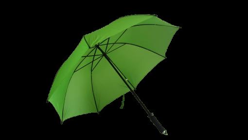 ljusgrönt golfparaplyet