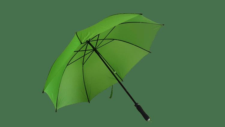 Ljusgrönt golfparaplyet som är grönt likt gräset - Jeannett