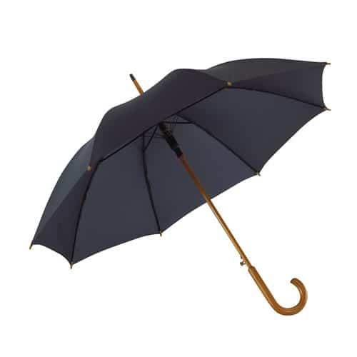 Navy blått paraplyet