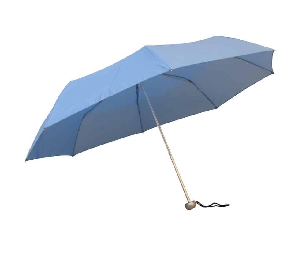Ljusblåa hopfällbara paraplyet - Frakten är helt kostnadsfri - Jackson
