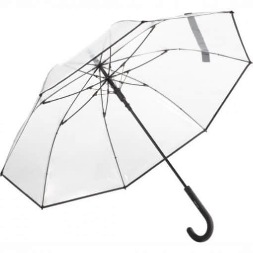 transparant svart paraply
