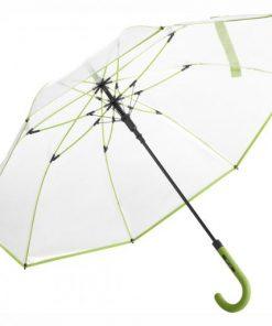 Transparanta lime-färgade paraplyet