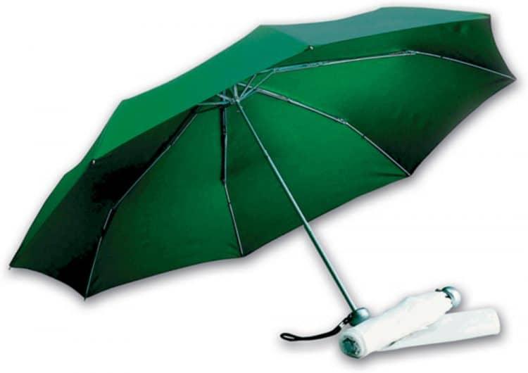 Gröna hopfällbara paraplyet fri frakt - Jackson