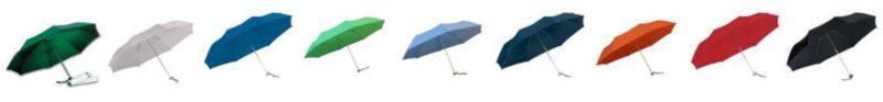 vitt hopfällbart paraply