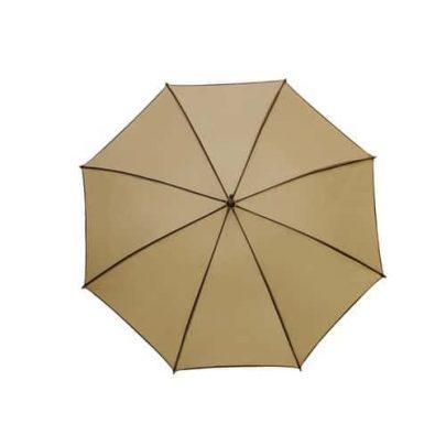 beigea och bruna paraplyet