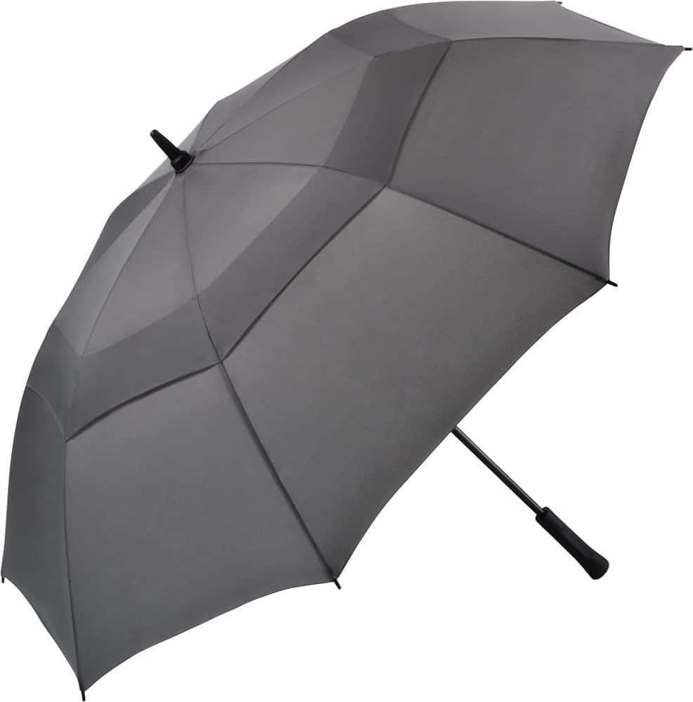 Stort grått golfparaplyet vindsäkert och fri frakt - Nicholas