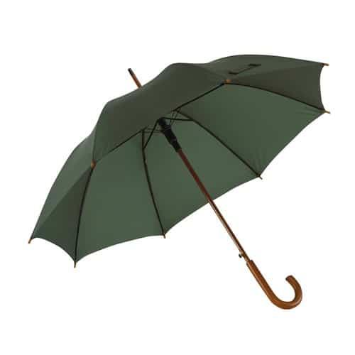 mörkgrönt paraplye