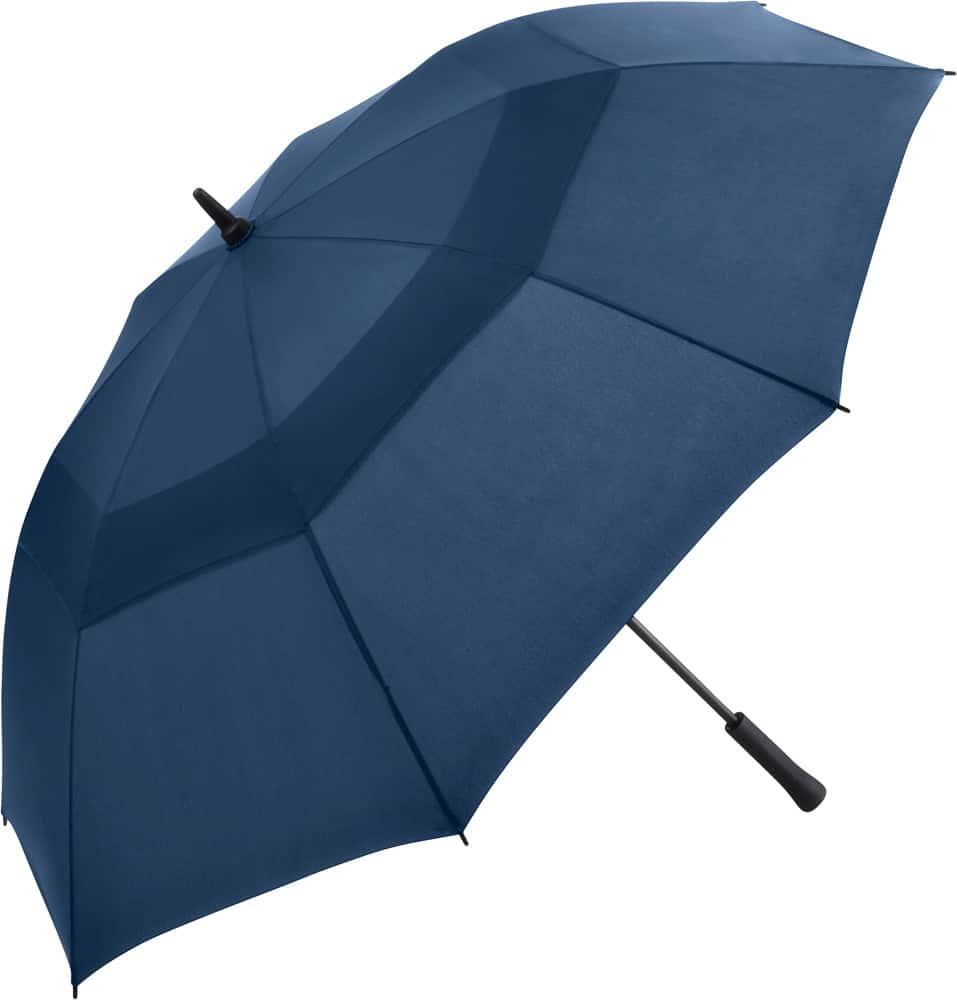 Stort navy blåa golfparaplyet med dubbel skärm fri frakt - Nicholas
