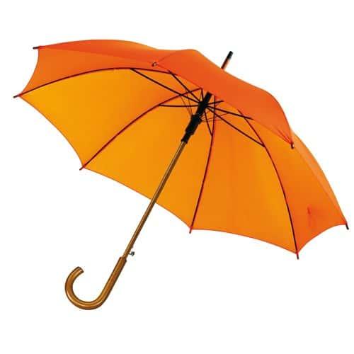 Orangea paraplyet ett stilfullt trä paraplyet - fri frakt Buddy