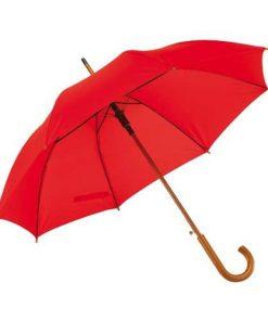 rött paraplyet