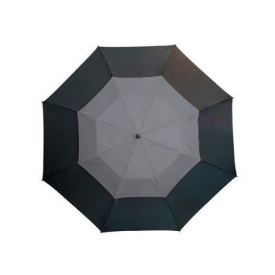 stort grått paraply