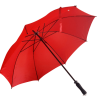 stort rött golfparaply
