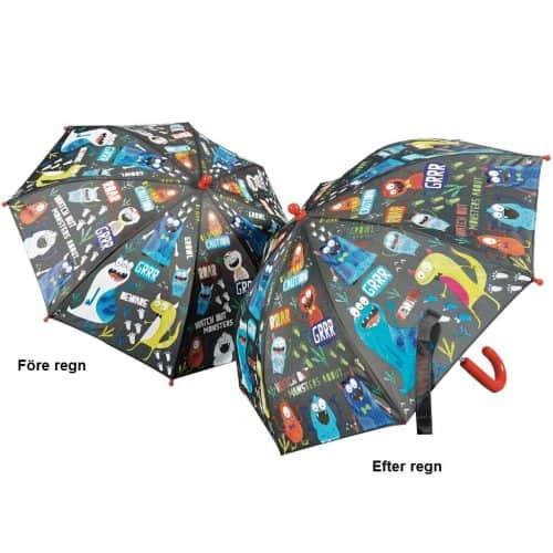 Monter paraply barn ändrar färg när det regnar - Fri frakt