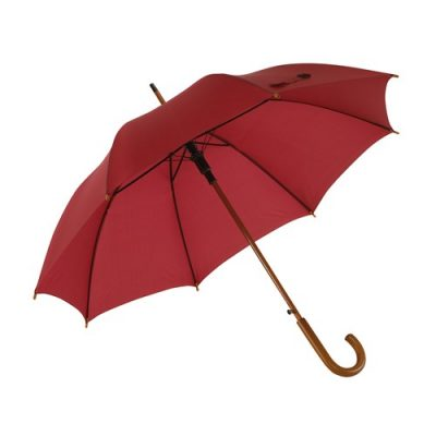 Mörk rött paraplyet