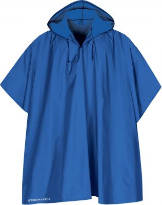 royal blå regnponcho