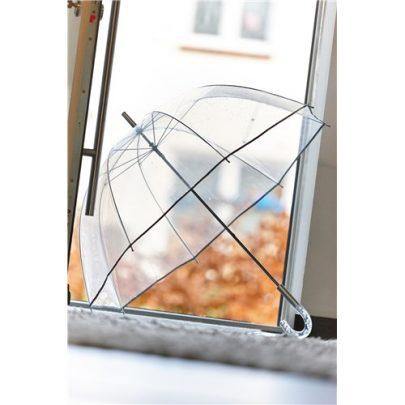 Stor retro transparent paraply