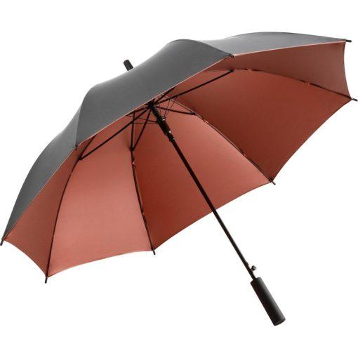 grå och koppar paraply