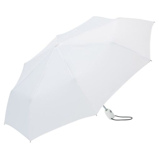vitt hopfällbart paraplyet