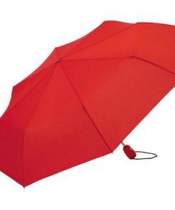 rött hopfällbart paraply