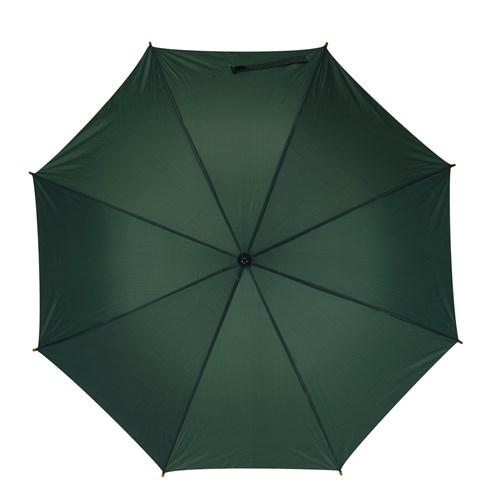 stora mörkgröna golfparaplyet