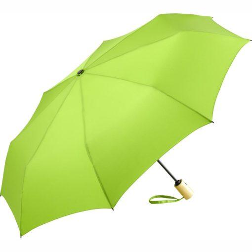 Miljövänligt ljusgrönt paraply