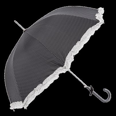 Retro svart paraply