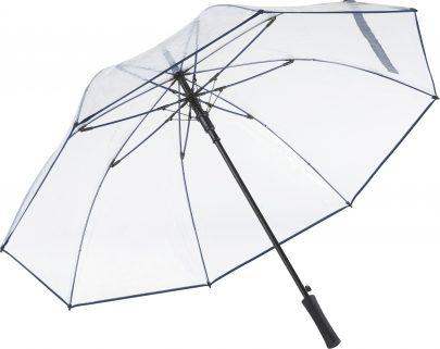 Navyblått transparant paraply