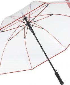 Rött transparant golfparaply