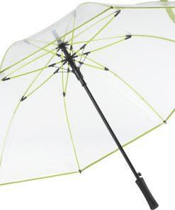 limegrönt transparant paraply