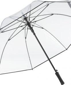 svart transparant golfparaply