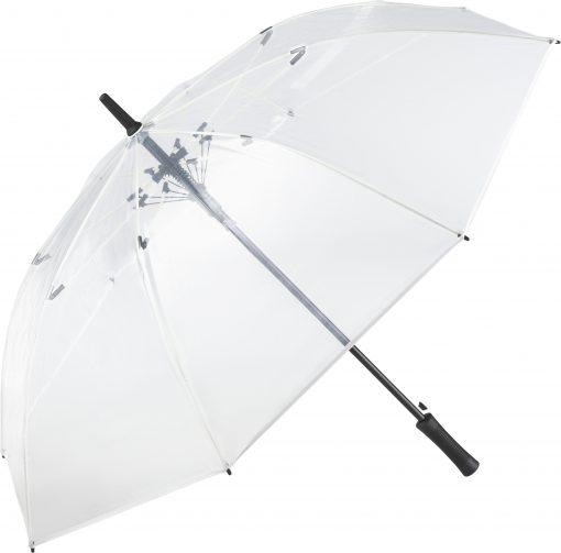 vitt transparant paraply