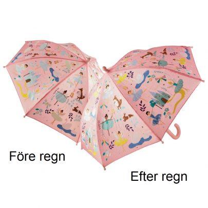 Färgskiftande rosa barnparaply